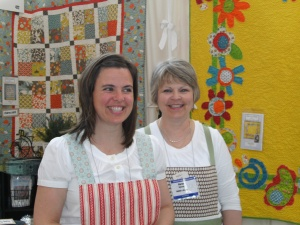 Karen & Monica from Nellies Needle.  I love their patterns!!