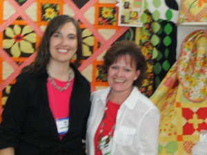 Julie Popa of Sunflower Hill Designs, who won Best small booth Award!!! Congrats Julie!!
