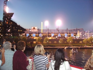 PNC Park.  The Pirates were playing that night.  We could see the score and hear the crowd...Go Pirates!!!