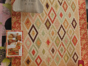 """Fig Tree's New pattern made from those 1 1/2"""" strips.  The fabrics are Mill House Inn which delivers in September"""