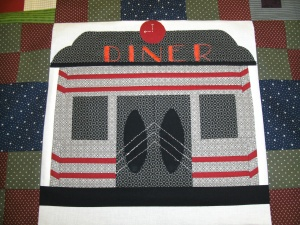 heres a peek at our quilt block...that is all I can show you.  You will have to come to the Shop Hop to see the rest